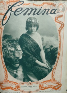 Femina 1908 1 sept Couverture, Exoticism - Tiger